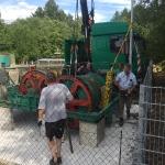 2017-06 Fundamentbau und Umsetzen Fördermaschine Schacht Reichenbach